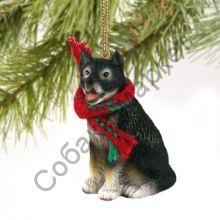 Аляскинский маламут новогоднее украшение «Теплый шарф»